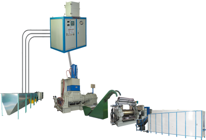 Rubber Products Production Line with Kneader Mixer